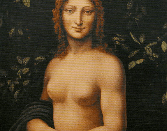 Monna Vanna Is not a nude Mona Lisa, but a nude woman figure with the head of one of LdV student