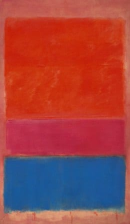 Mark Rothko's painting No 1 sold for 75,122,500 US dollar
