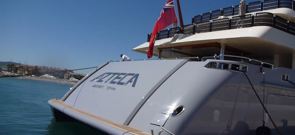 72 meter Super Yacht Azteca visit Sotogrande Spain