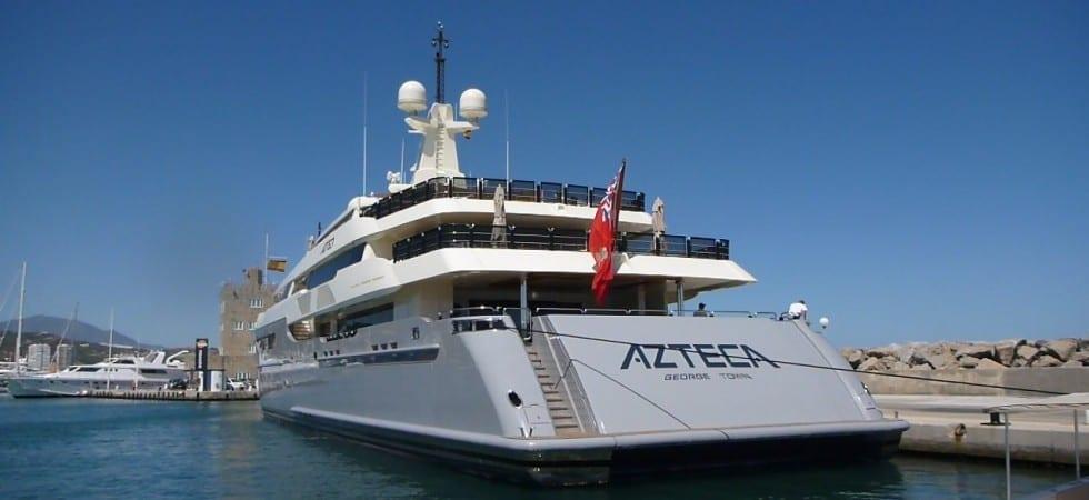 Azteca 72 meter Super Yacht visit Sotogrande