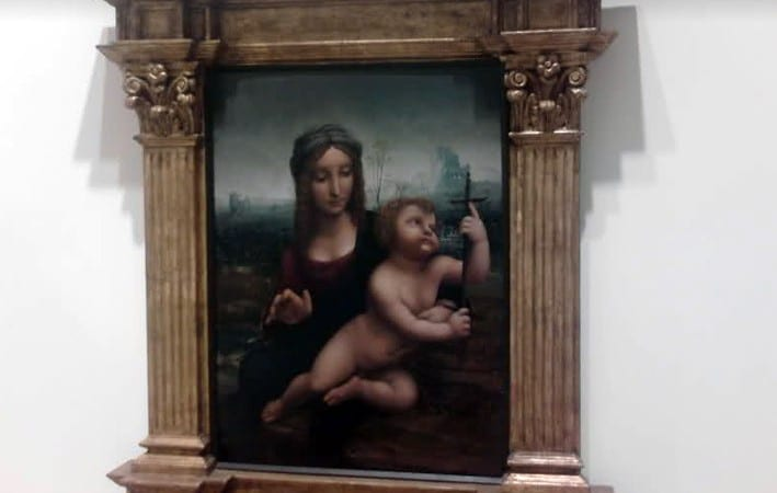 Madonna of the Yarnwinder by a member of the circle of Leonardo da Vinci