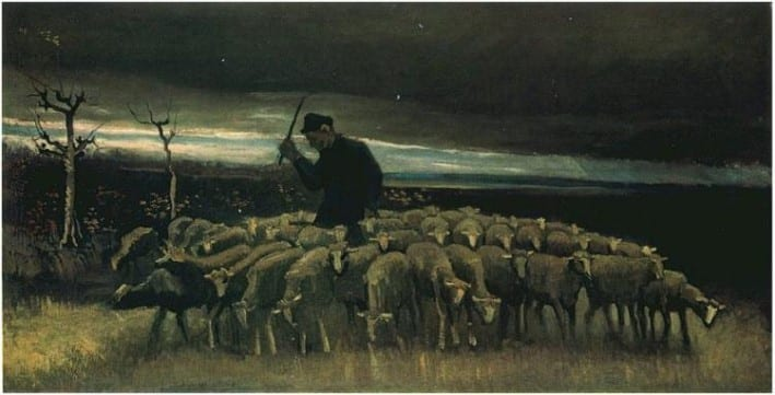 Shepherd-with-a-Flock-of-Sheep-van-gogh