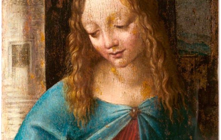 """Leonardo da Vinci /Salai: """"Il Volto della Vergine"""" (Head of the Virgin) (1508- 1510)"""