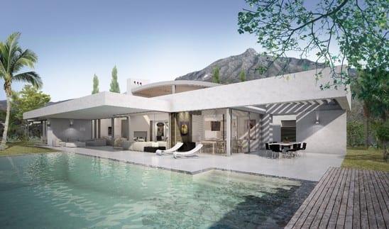 SOLD Marbella Hillside villa for sale, contemporary style