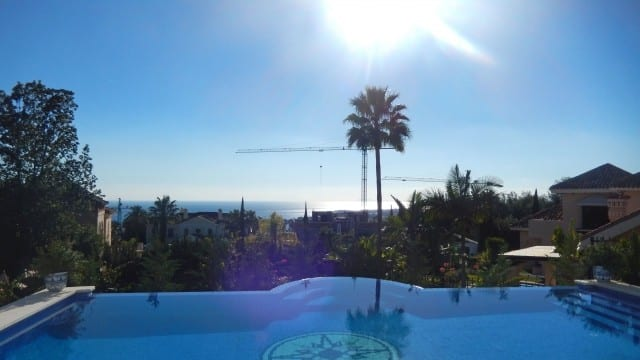 SOLD – Modern villa with sea views for sale Marbella Hill side