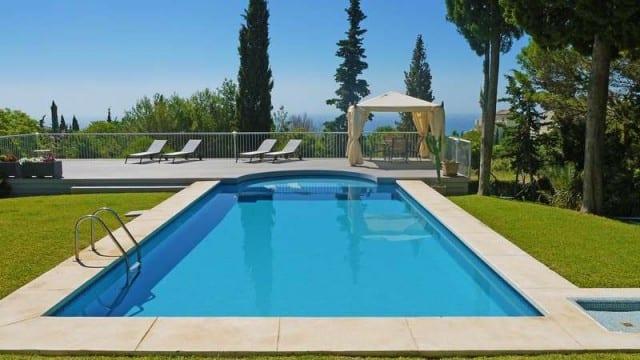 Sea view villa for sale Marbella Hill side – 24-hour security