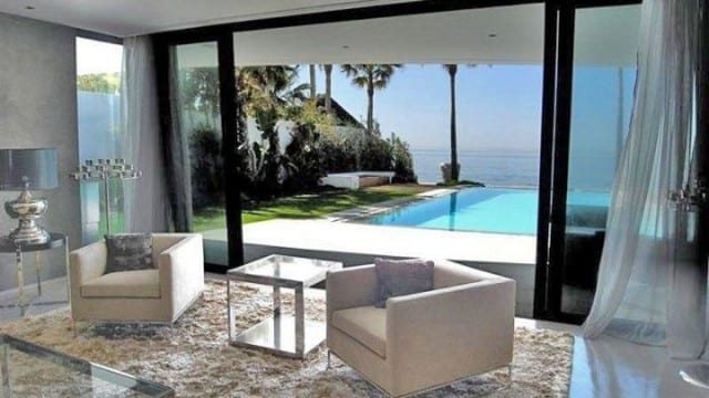 Marbella East.Rare New Beachfront villa for sale