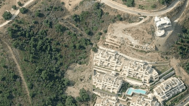 Plot from Bank build 72 townhouses Marbella East hillside