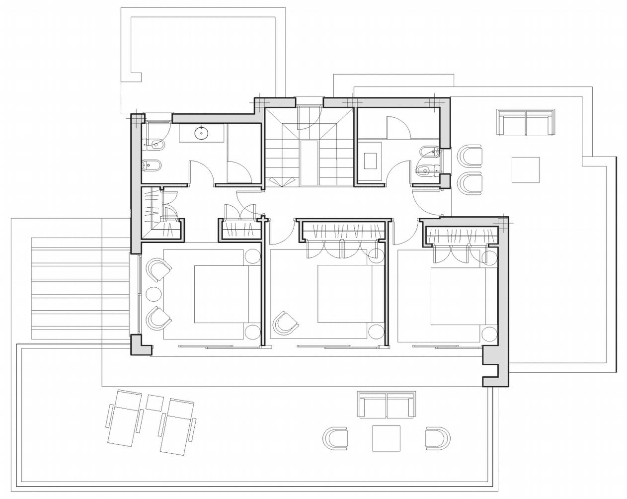 Plan de villa moderne pour 300 m2 maison moderne for Plan maison 300m2