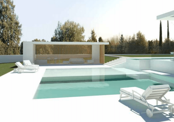 Moderne Marokkaanse Bank : Moderne villa te koop La Moraleja Madrid
