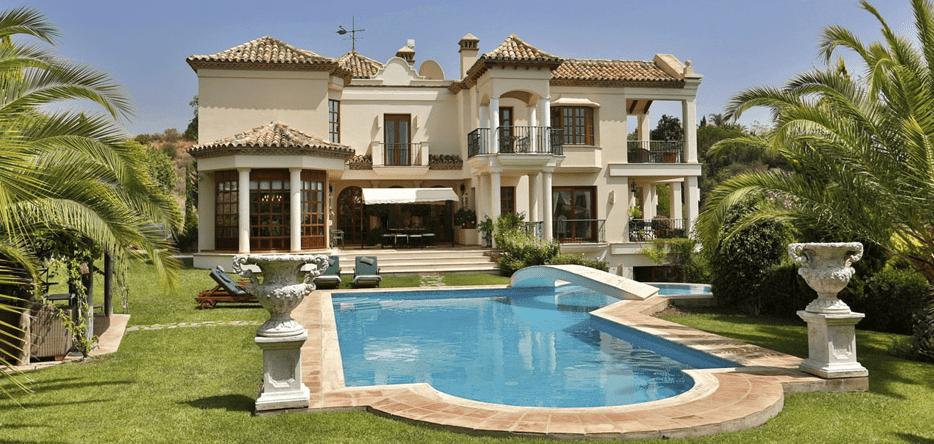 Marbella hill club villa for sale gated luxury urbanization - Marbella club villas ...