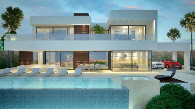 Nueva Andalucia modern villa with sea views for sale.