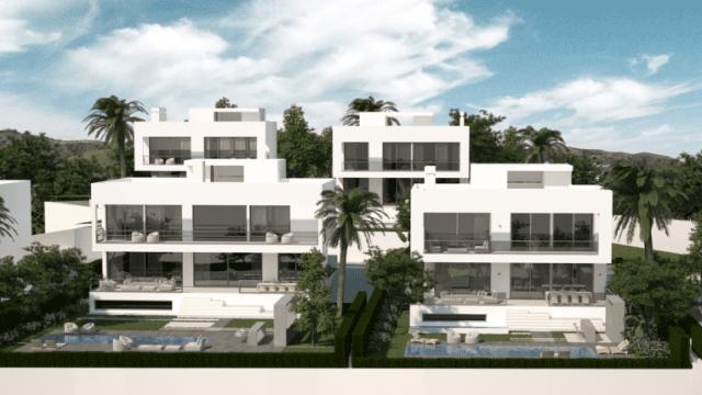 Modern villa project.Beachside 5min drive Puerto Banus
