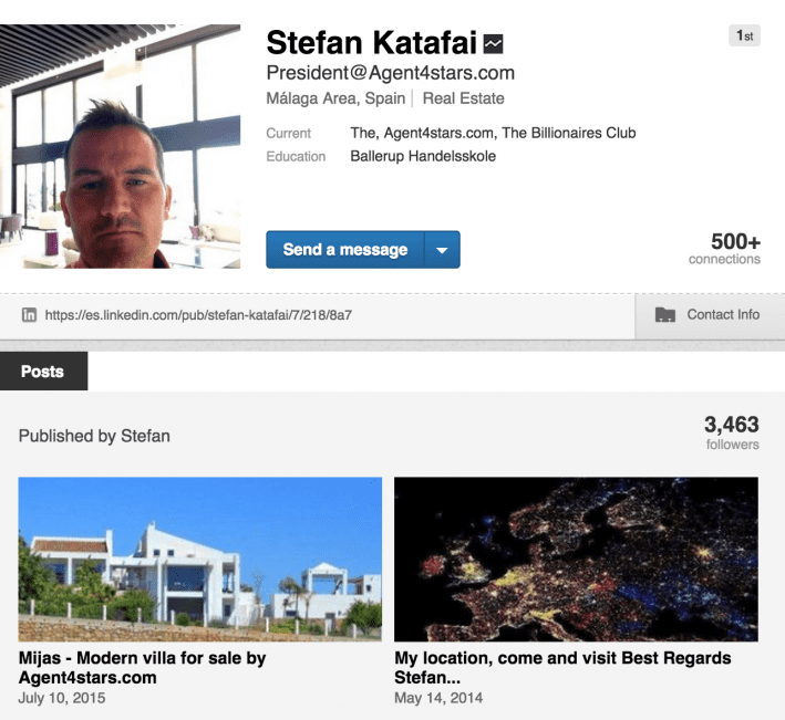 Linkedin Profile Agent4stars.com