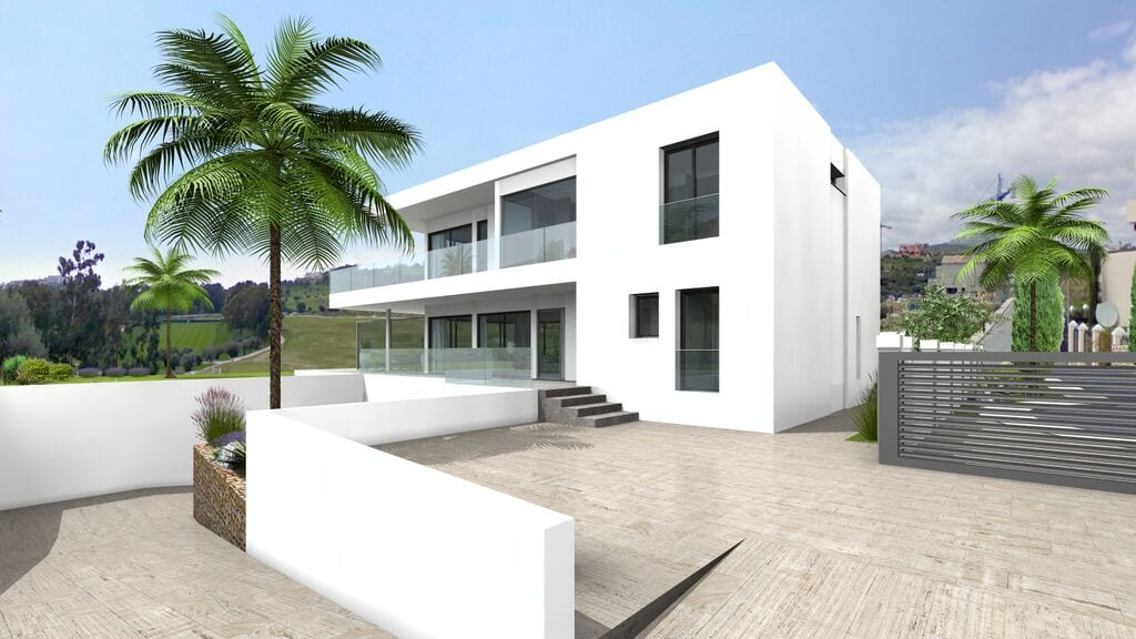 benahavis high quality modern villa sea views