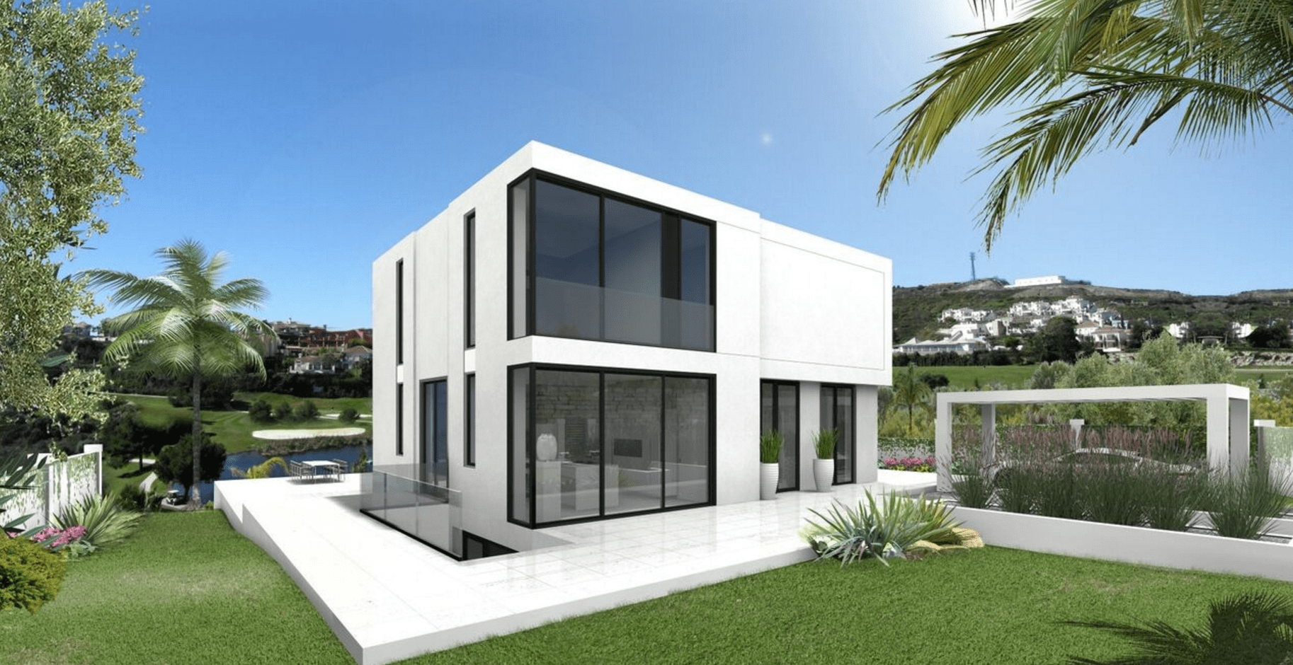 Benahavis investment modern villa sold off plan ready 2016 for Modern villa
