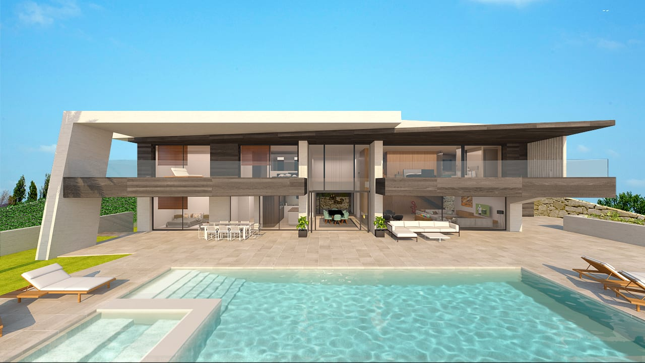 Nueva andalucia modern villa for sale for Modern villa