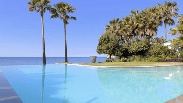 Marbella East.Modern Beachfront villa for sale & rent