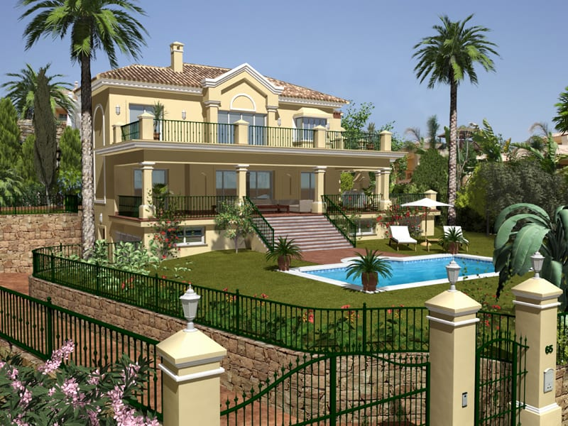 Benahavis Villa In Gated Community Views To The Sea Afrique