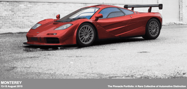 rm auction McLaren LM