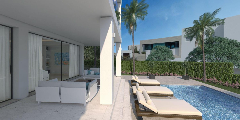le style benahavis scandinavian villa moderne. Black Bedroom Furniture Sets. Home Design Ideas