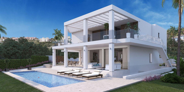Le style benahavis scandinavian villa moderne for Les villa moderne