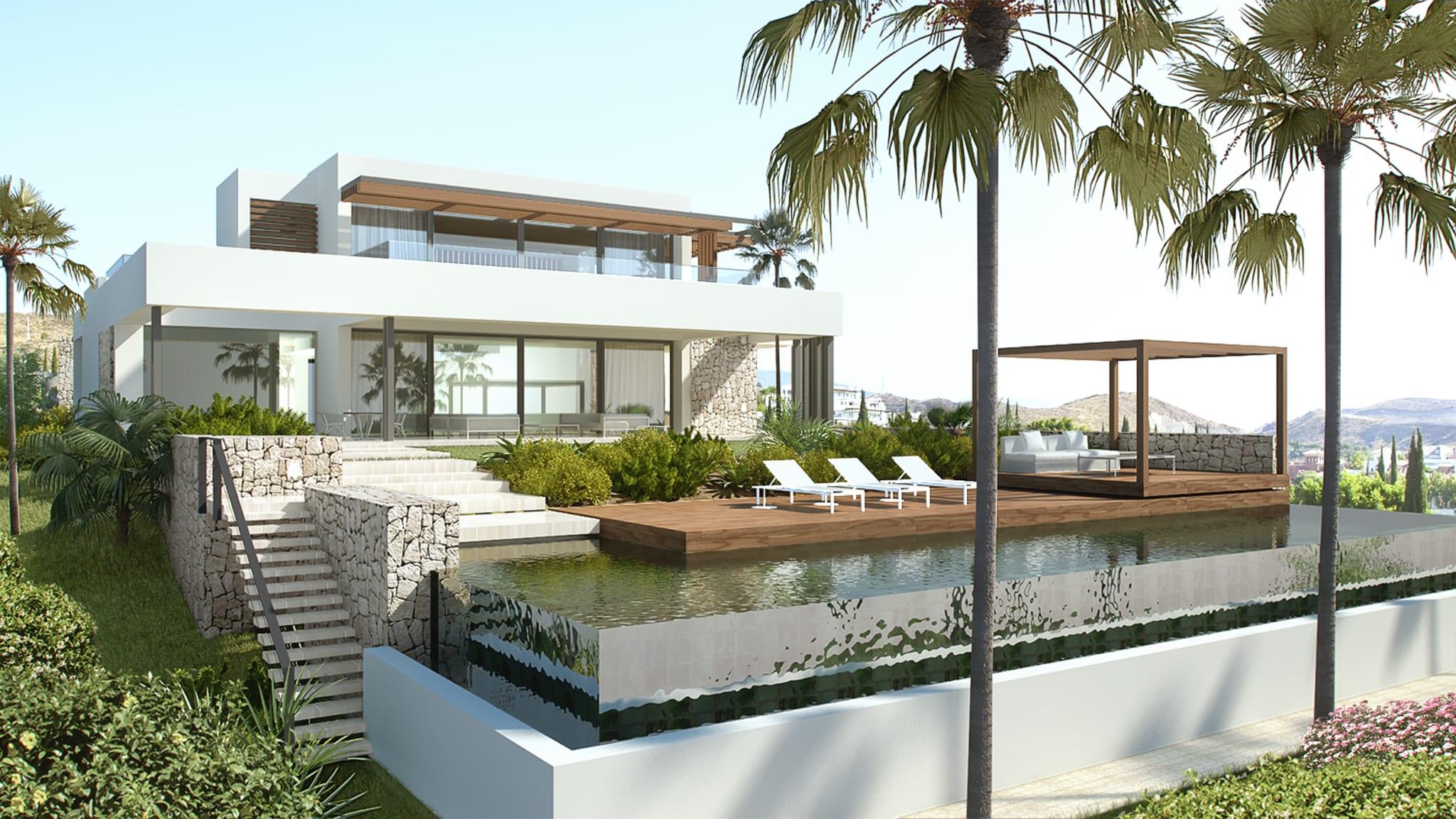 Modele Facade Maison Maroc : Costa del sol modern villa in gated community