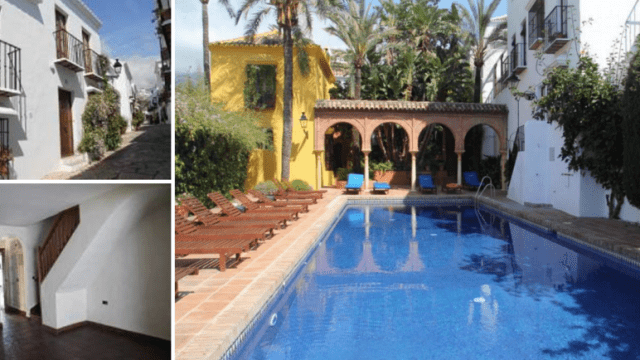 GOLDEN MILE MARBELLA.RUSTIC TOWN HOUSE FROM BANK