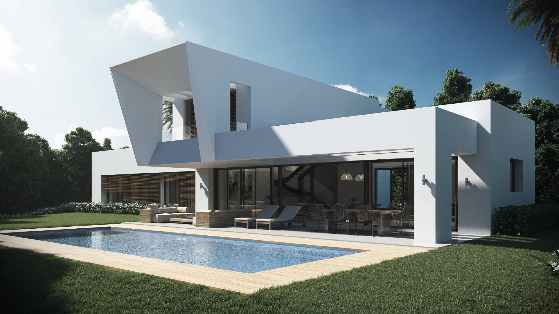 New golden mile 18 moderne villa 39 s - Moderne entreehal ...