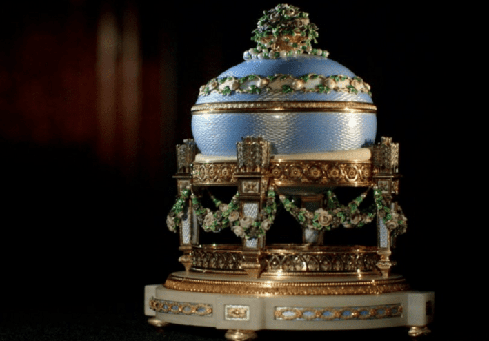 "Faberge egg ""the Love trophy egg"""