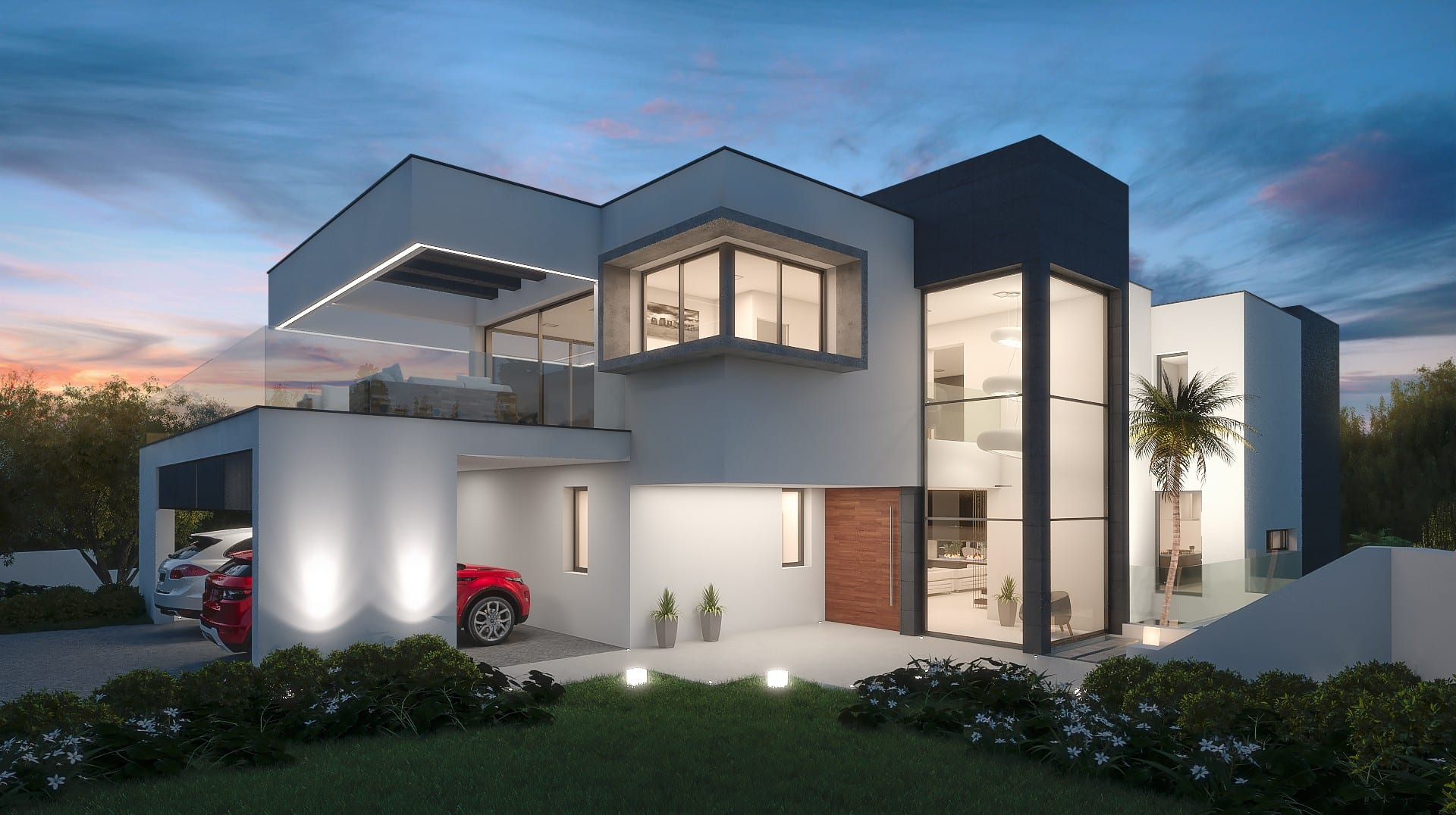 Nueva andalucia 2 x modern villas next to each other for Villa moderne plan