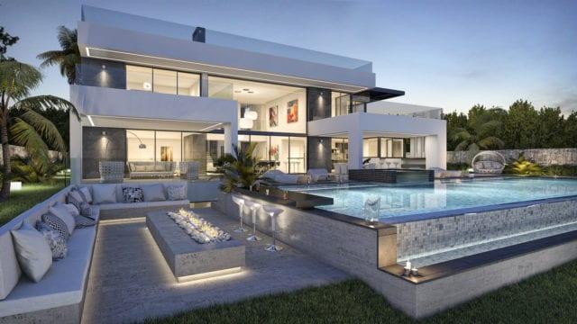 Marbella golden mijl moderne villa te koop for Garajes chalets