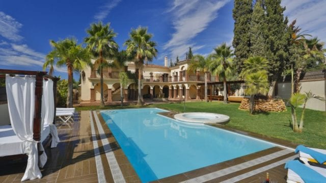 Villa for Rent Golden Mile Marbella Costa del Sol
