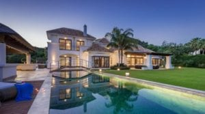 Marbella Hillside.Mansion with indoor pool.Gated community