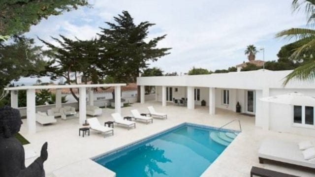 Marbella east modern beachside villa with pool