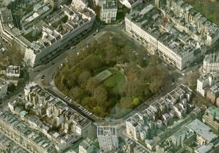 Belgrave Square, London Image from Bing maps -