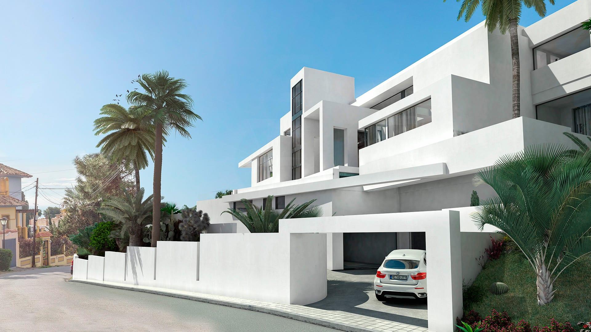 villa moderne nueva andalucia avec vue sur la mer marbella. Black Bedroom Furniture Sets. Home Design Ideas
