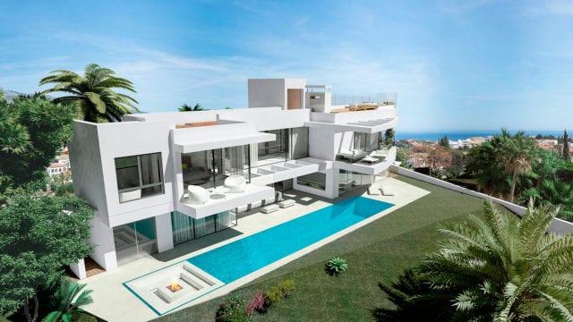 Villa De Milliardaire A Vendre : Moderne villa nueva andalucia mit blick auf das meer