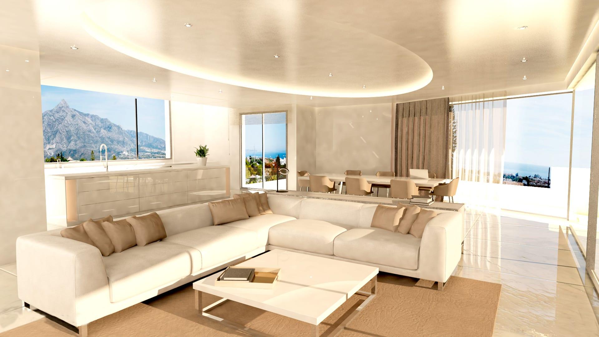 Villa moderne nueva andalucia avec vue sur la mer marbella for Ville super moderne