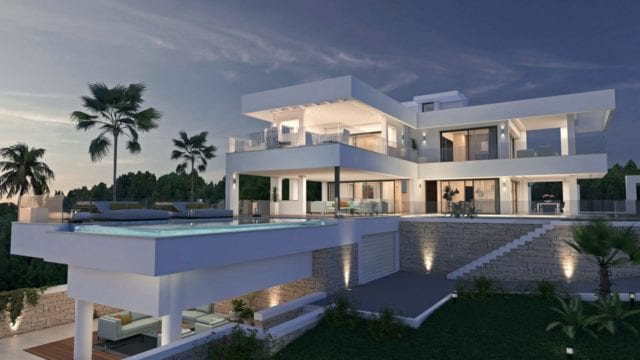 Nueva Andalucia modern villa with sea views