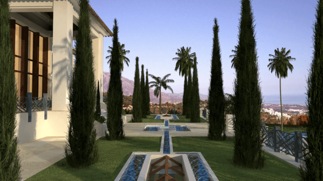 La Roca del Rey (The King's Rock by  Bolt Property, fountains not included by pool