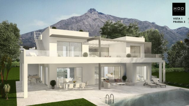 Golden Mile modern villa with sea views, ready May 2018