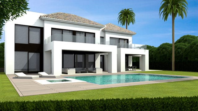 10min west of Puerto Banus modern villa near Beach