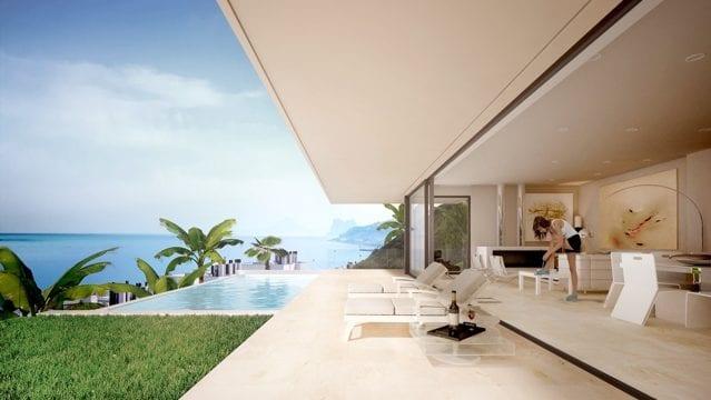 Estepona Off Plan villa with sea views only €650.000