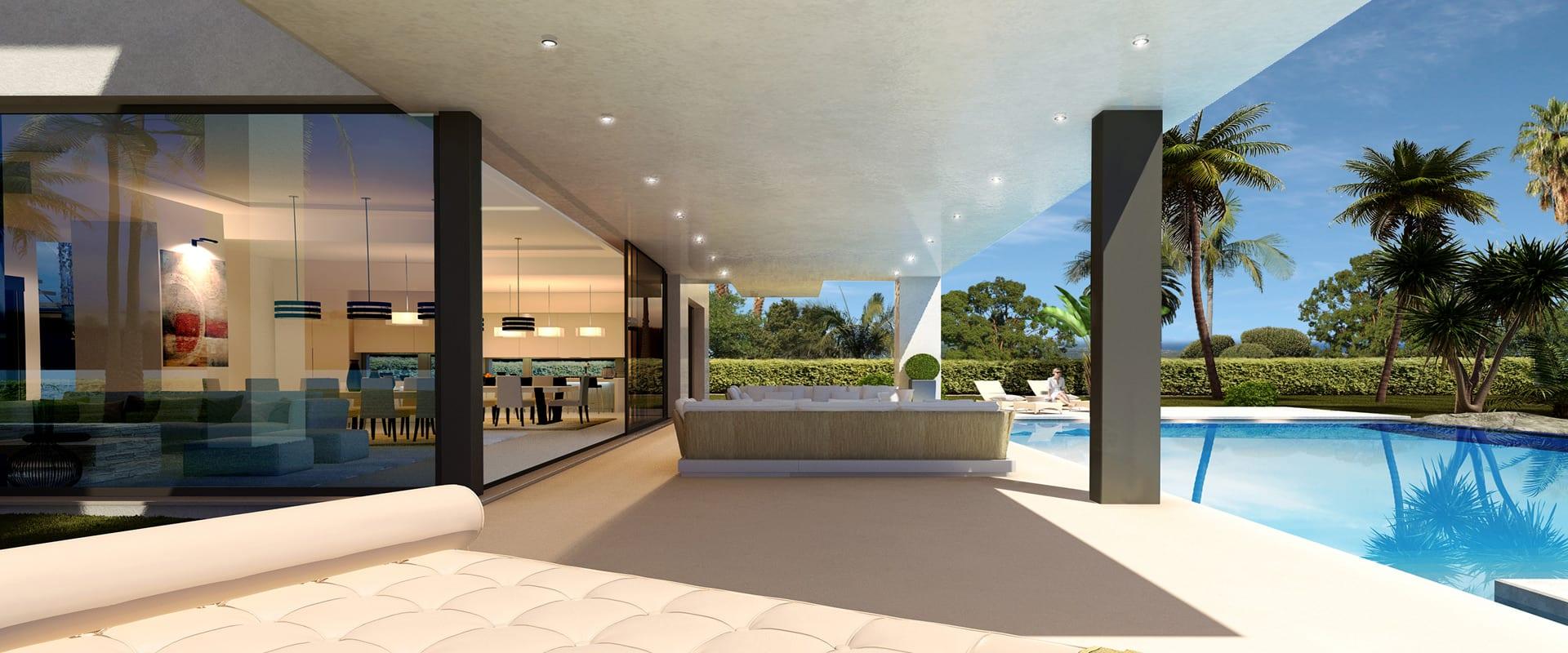 goldene meile marbella moderne villen mit meerblick in wohnanlage - Moderne Villen
