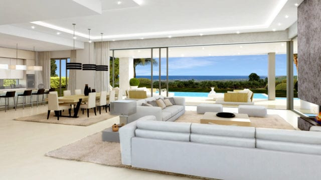 Golden mile Marbella, modern villas with sea views in gated community