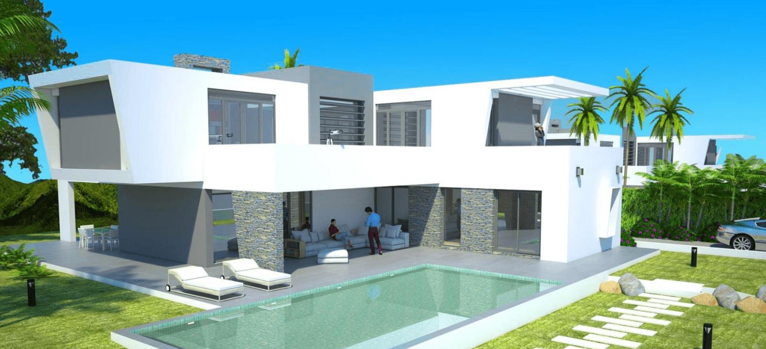 Sobre plano villa nueva milla de oro estepona for Moderne villen