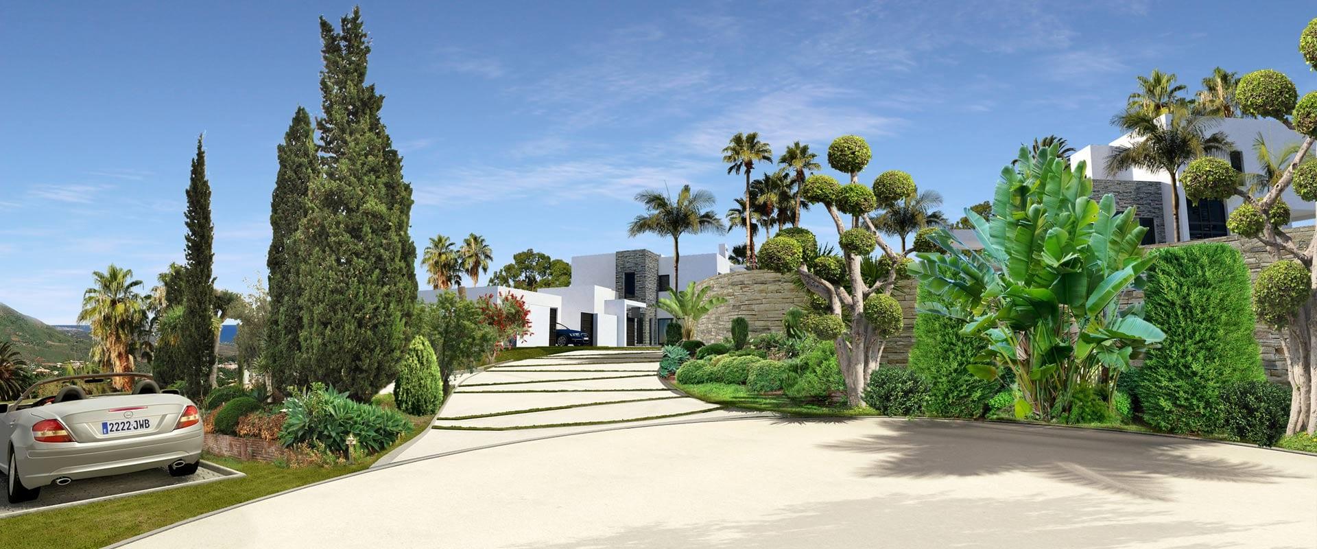 Gouden mijl marbella moderne villa 39 s met uitzicht op zee - Domotica marbella ...