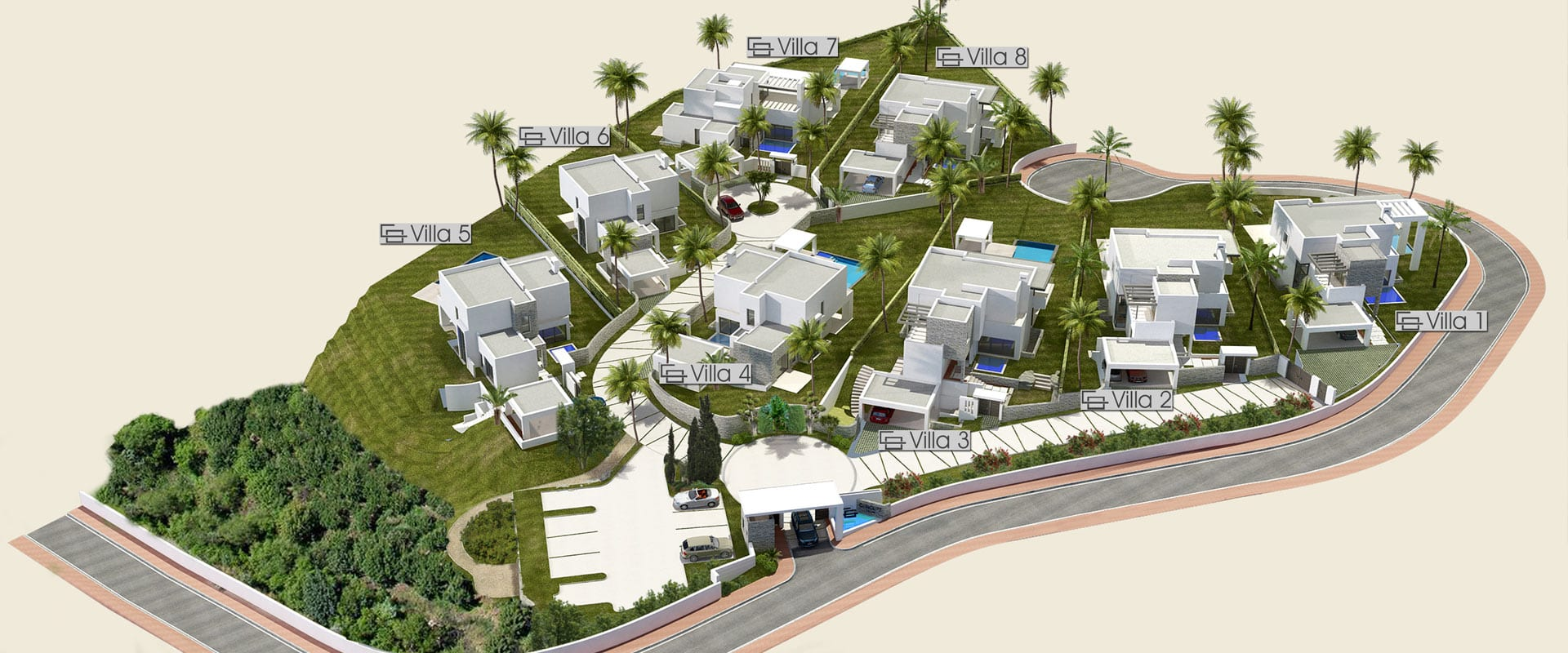 Golden Mile Marbella Modern Villas With Sea Views In