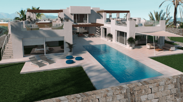 Marbella East.Modern villa with sea views 200m from best Beach